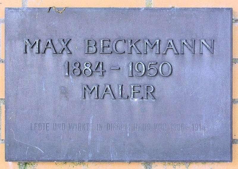 Gedenktafel, Max Beckmann, Ringstraße 17, Berlin-Hermsdorf, Deutschland