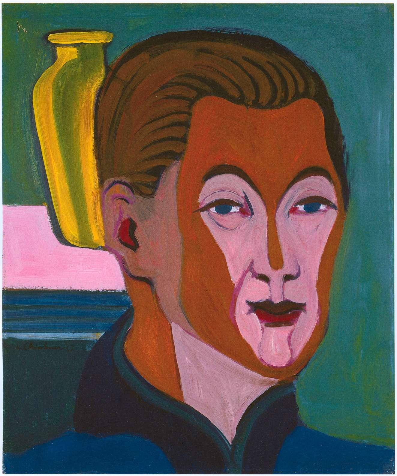 Selbstbildnis des Malers Ernst Ludwig Kirchner aus dem Jahre 1925