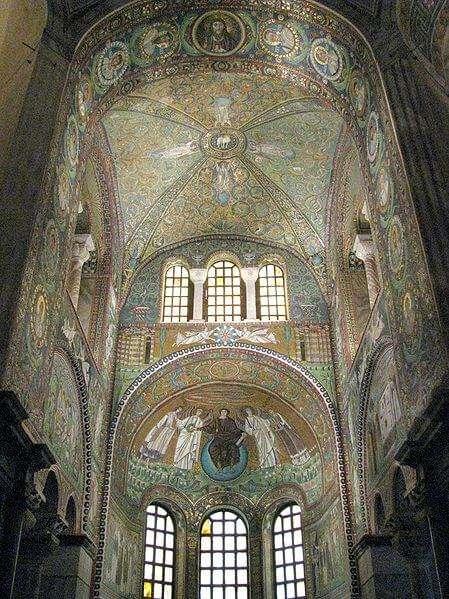 Herrliches Mosaik in der romanischen Basilika San Vitale in Ravenna