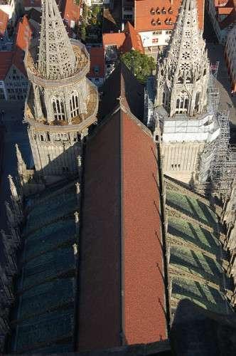 Ulmer Münster - Blick auf das Dach
