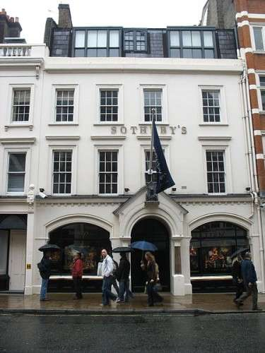 Sotheby's Hauptquartier in der New Bond Street, London