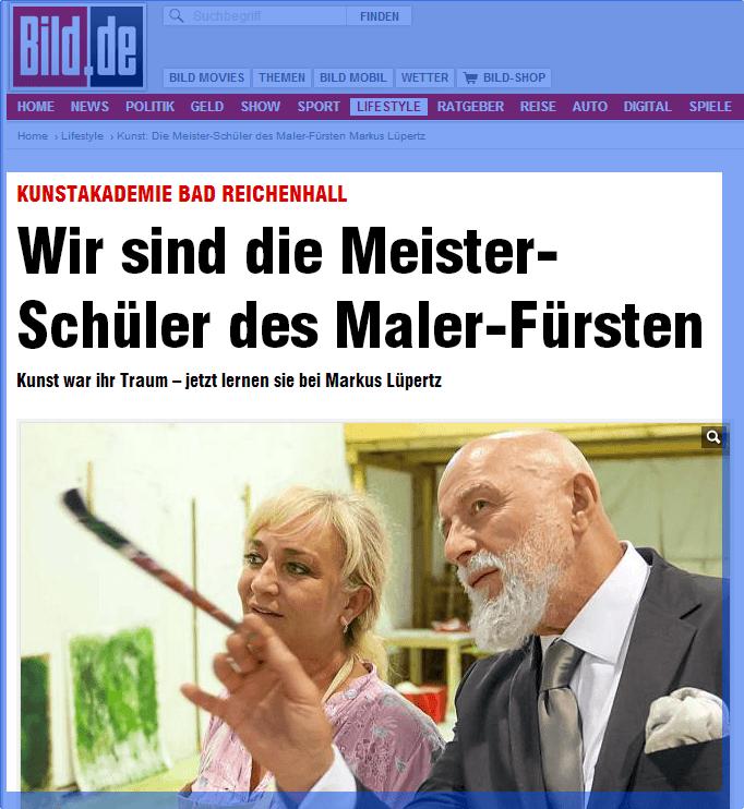 BILD berichtet über die Meisterklasse von Markus Lüpertz