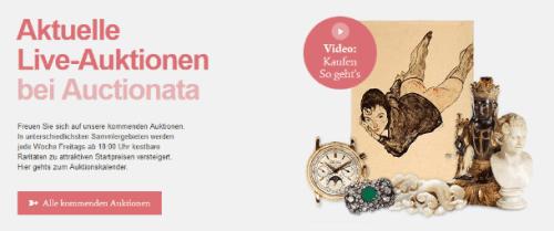 Live Versteigerungen auf Auctionata (Screenshot)