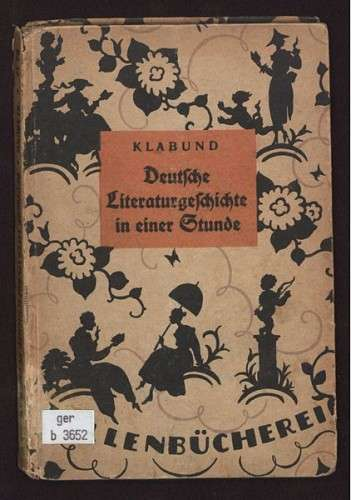 Klabund - Deutsche Literaturgeschichte in einer Stunde