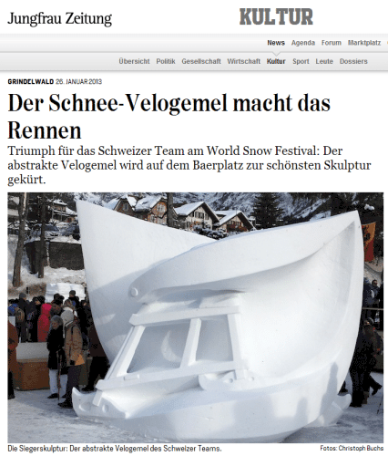 Screenshot der Jungfrau Zeitung