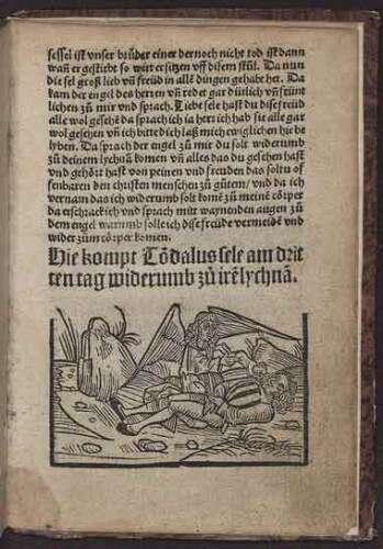 Ausschnitt aus Visio Tnugdali, gedruckt bei Matthias Hupfuff in Straßburg (1514)