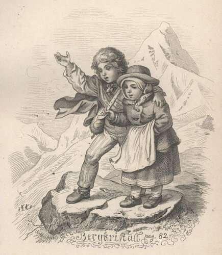 """Illustration Ludwig Richters zu Adalbert Stifters Erzählung """"Bergkristall"""""""