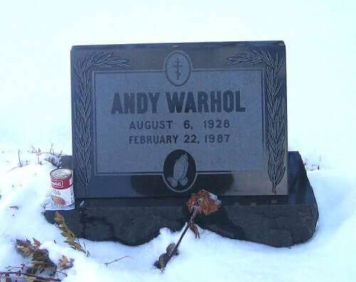 Andy Warhol's Grabstein, St. John the Baptist Byzantine Catholic Cemetery, Bethel Park