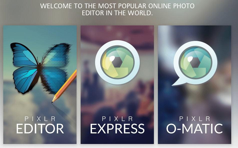 Pixlr Online Bildbearbeitungs-Tools