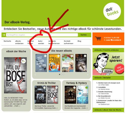 Autor werden beim eBook Verlag dotbooks