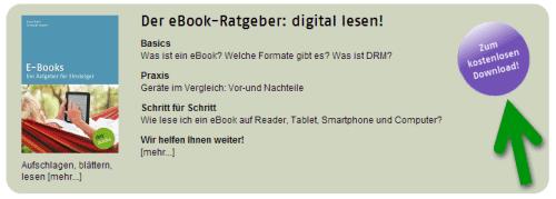 Kostenloser eBook Ratgeber bei dotbooks