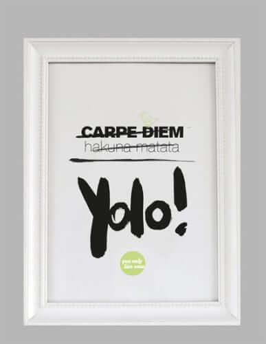 Kunstdruck mit dem Jugendwort des Jahres 2012