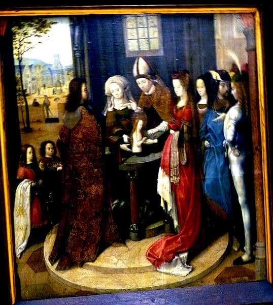 Taufe der heiligen Ursula Meister der Ursula-Legende, Köln, zwischen 1492 und 1495