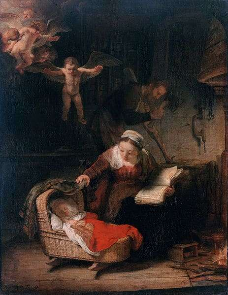 Rembrandt: The Holy Family with Angels (1645)