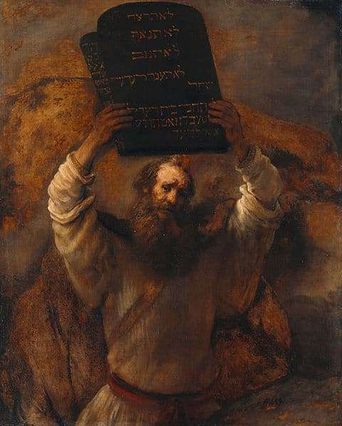 Rembrandt: Moses Smashing the Tablets of the Law (1659)