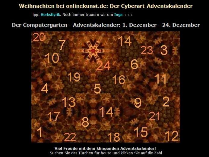 Adventskalender von Onlinekunst.de