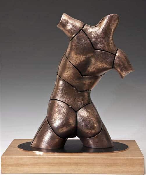 """""""Torso Jessy"""" - Bronzeskulptur von David G Smith"""
