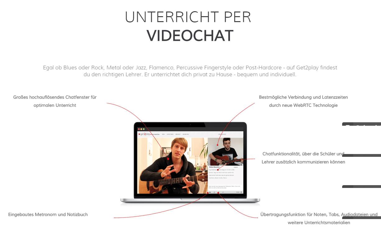 Unterricht per Videochat auf get2play