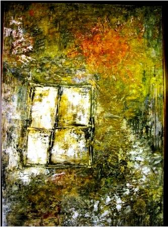 """""""Ventana y camino"""" - Acrylgemälde der mexikanischen Malerin Susana Noriega (2009)"""