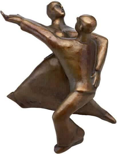 """Bronze-Skulptur """"Rock 'n' Roll"""" (2002), von Günter Grass"""