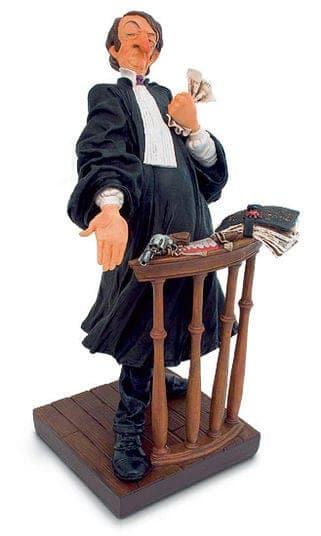 """""""Der Anwalt"""" - handbemalter Kunstguss von Guillermo Forchino"""