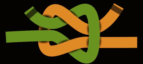 Links gelegter Kreuzknoten