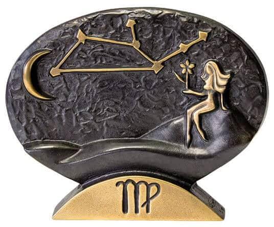 """Sternzeichen-Skulptur """"Jungfrau"""" aus Bronze von Bernardo Esposto"""