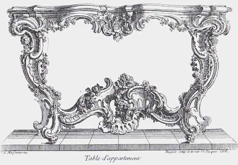 Tafel von Juste-Aurele Meissonnier (1730)