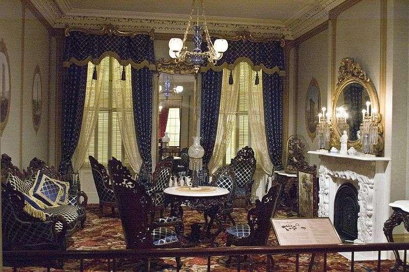 Beispielhafter Rokoko Revival Parlor von 1855 in New York City (Metropolitan Museum of Art)