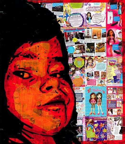 Tape Art Collage des russischen Künstlers Nikolay