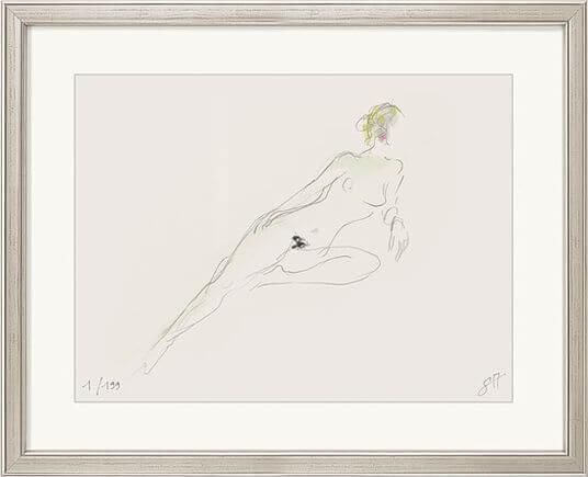 """Reproduktion des Bildes """"Liegender Akt"""" von Serge Mangin"""