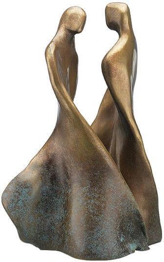 """2-teilige Bronze-Skulptur """"Tanzendes Paar"""" von Maria-Luise Bodirsky"""