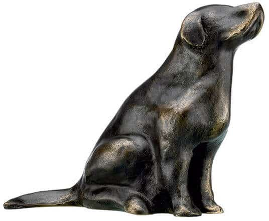 "Bronze-Skulptur ""Retriever"" von Mechtild Born (2012)"