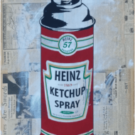 """""""Heinz Ketchup Spray"""" - handsignierter Siebdruck von Mr. Brainwash"""