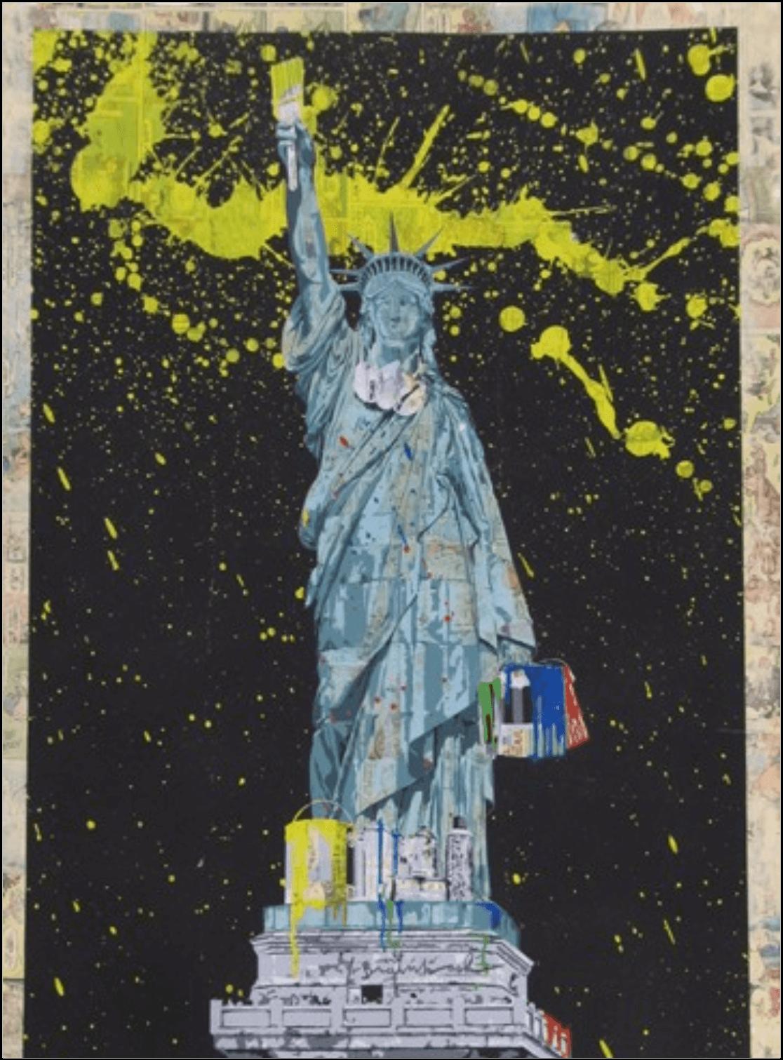 """""""Liberty"""" - handsignierter Siebdruck von Mr. Brainwash"""