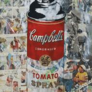 """""""Tomato Spray"""" Handsignierter Siebdruck von Mr. Brainwash"""