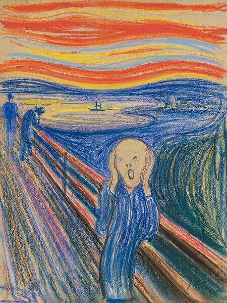 Edvard Munch - Der Schrei in Pastell