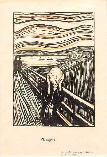 Edvard Munch - Der Schrei (Lithografie von 1895)