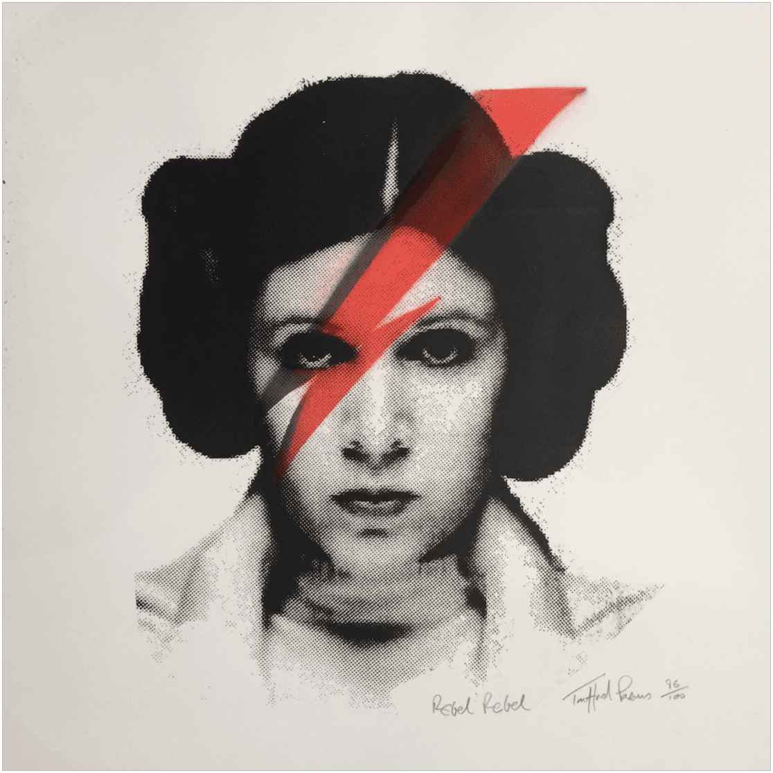 """""""Rebel Rebel"""" von Trafford Parsons, limitierter Siebdruck"""
