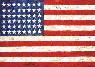 Jasper Johns Flag Enkaustik