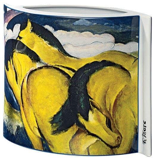 """Porzellanvase """"Kleine gelbe Pferde"""" (1912), Motiv von Franz Marc"""