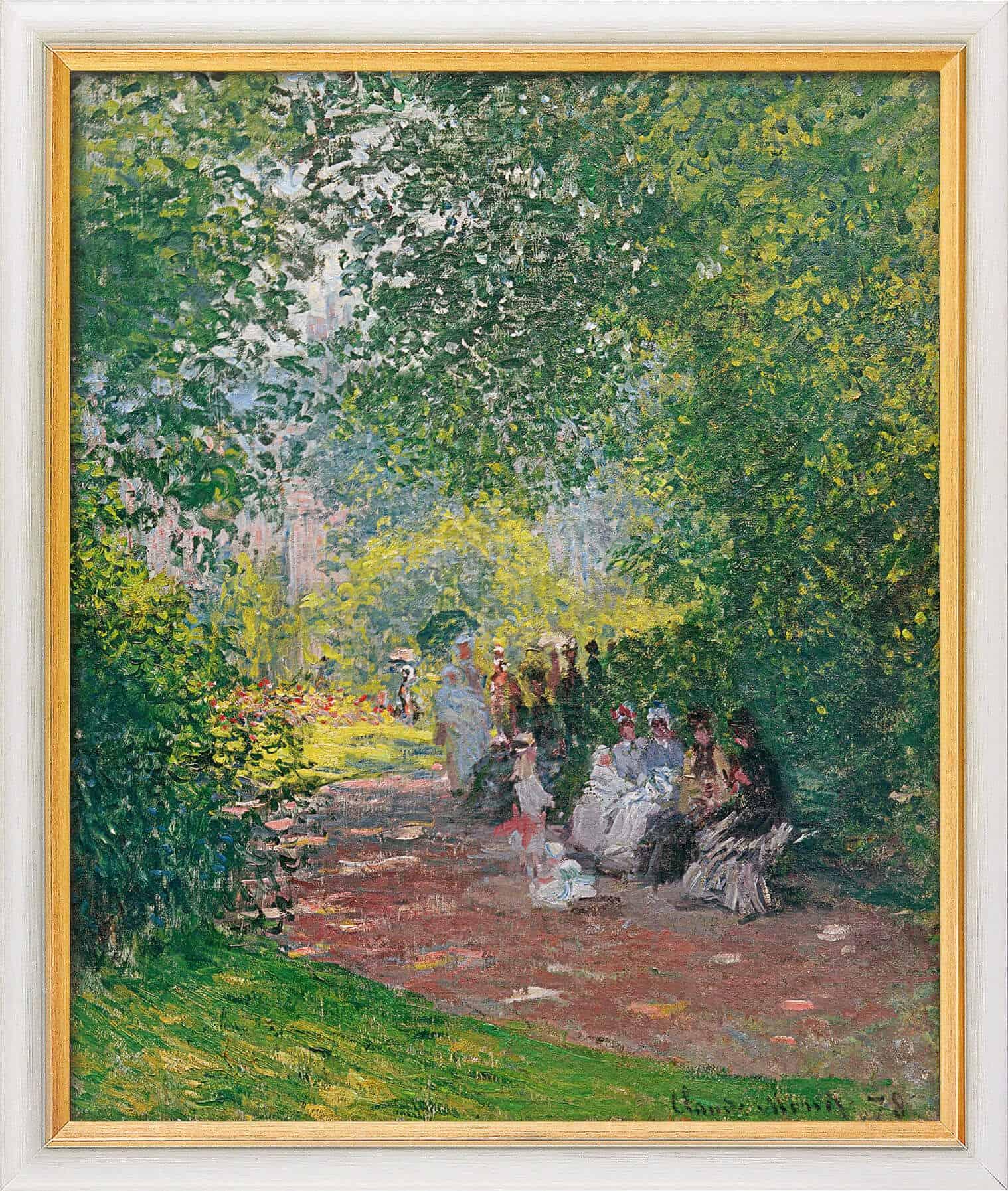 """""""Im Park Monceau"""" von Claude Monet, limitierte Reproduktion"""