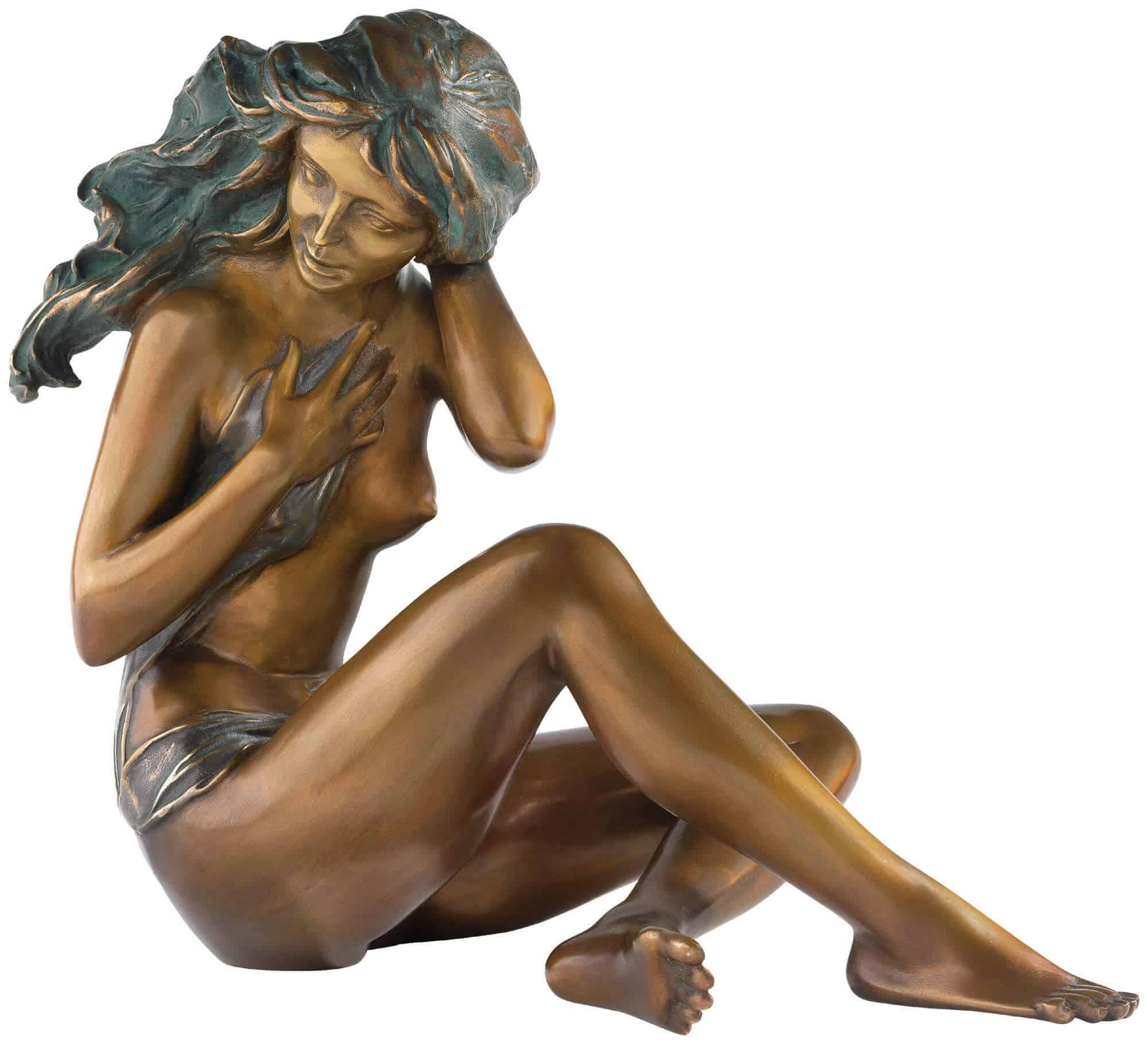 """Bronzeskulptur """"In der Dämmerung"""" von Erwin A. Schinzel"""