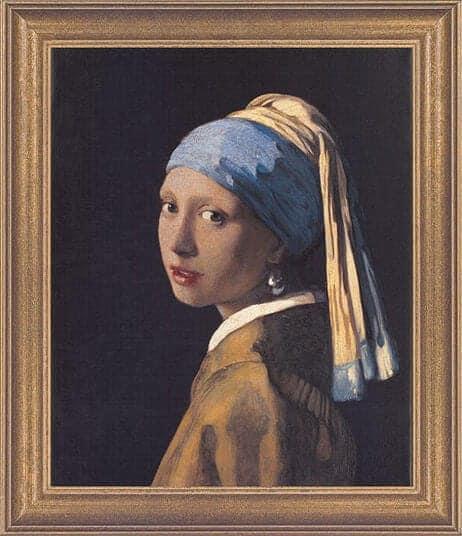 """""""Das Mädchen mit dem Perlenohrring"""" von Jan Vermeer van Delft (limit. Reproduktion)"""