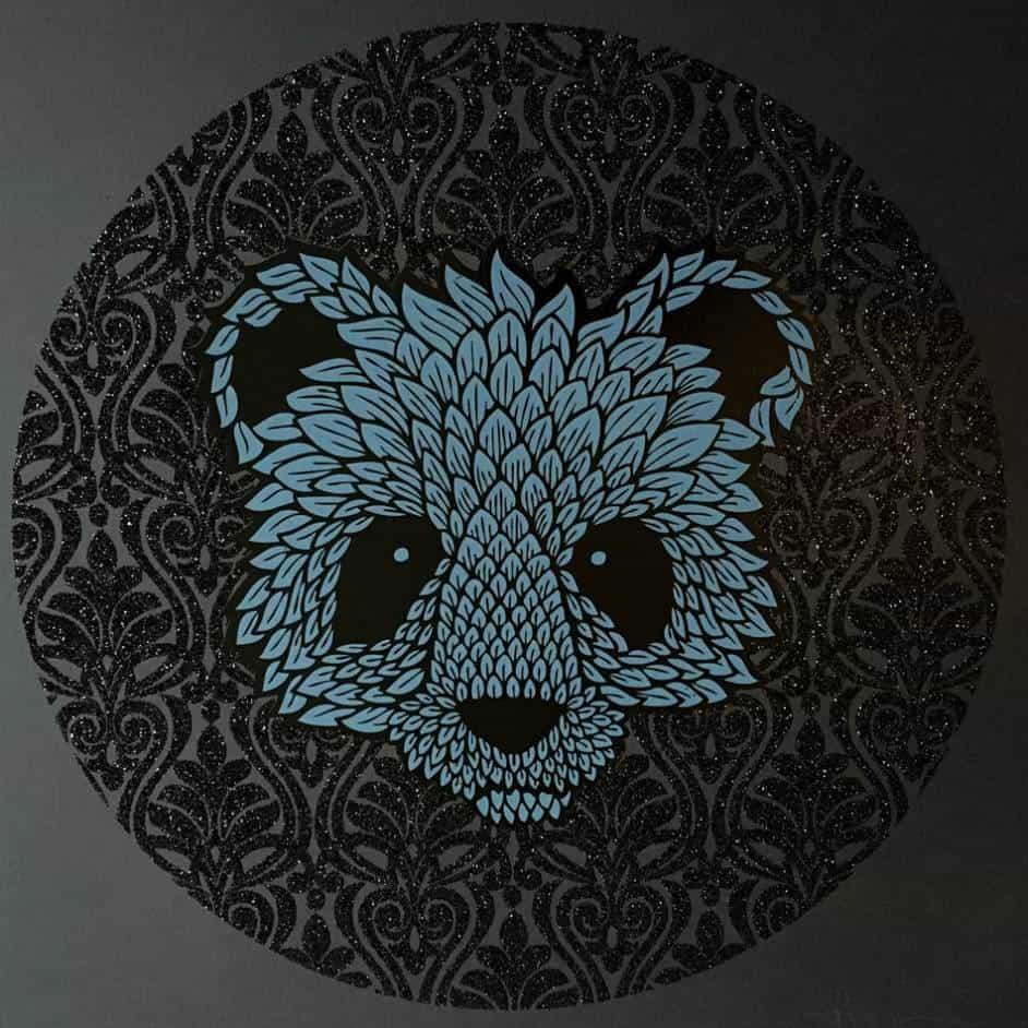 """""""Black Diamond Bear"""" - limitierter Kunstdruck von Andy Wilx"""