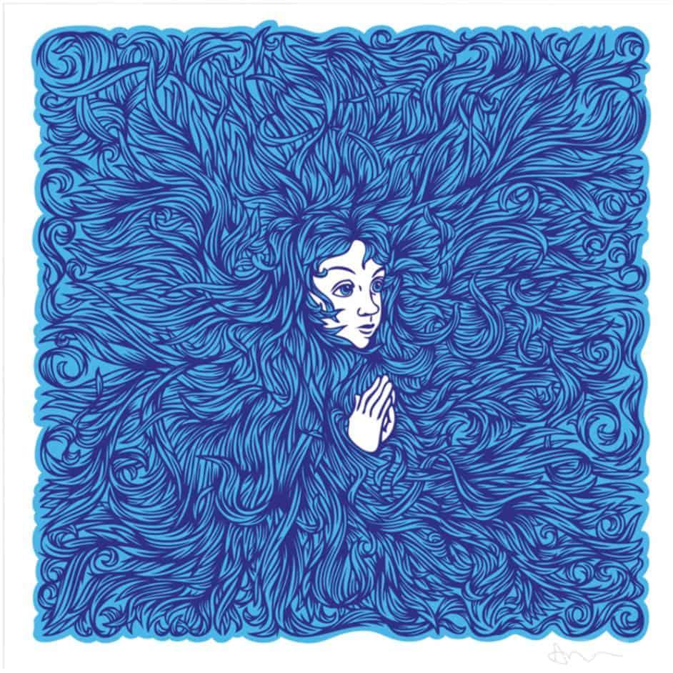 """""""I Dream In Blue"""" - limitierter Siebdruck von Andy Wilx"""