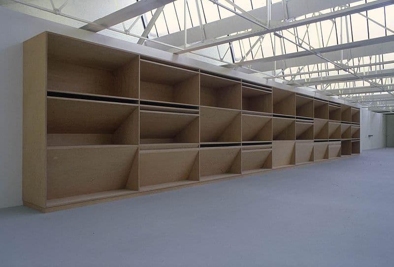 Donald Judd Installation in der Saatchi Gallery, England