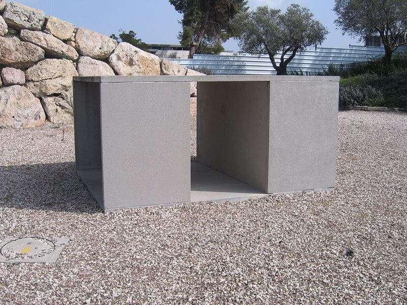 Ohne Titel (1988-1991) von Donald Judd (Während der Concreta im Art Garden des Israel Museum)