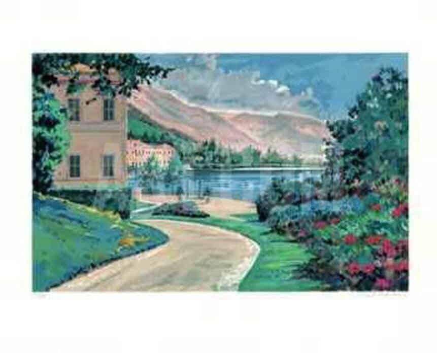 """Lake Como Vista"" - Limitierter Kunstdruck von Robert Schaar"