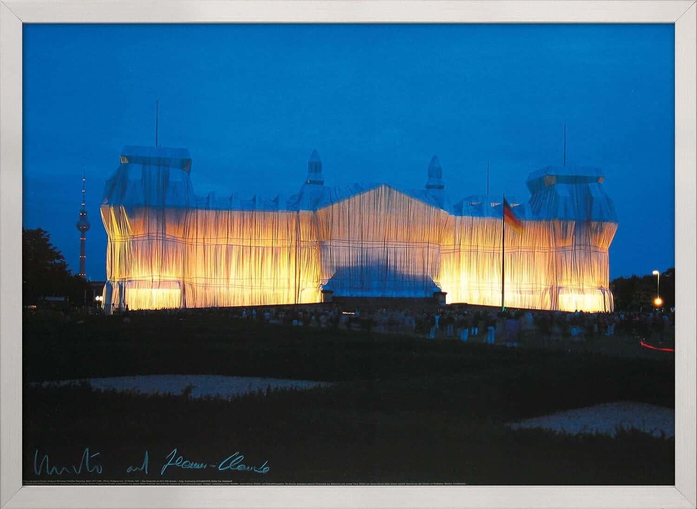 """""""Reichstag Vorderseite nachts"""" - Reproduktion von Christo und Jeanne-Claude"""